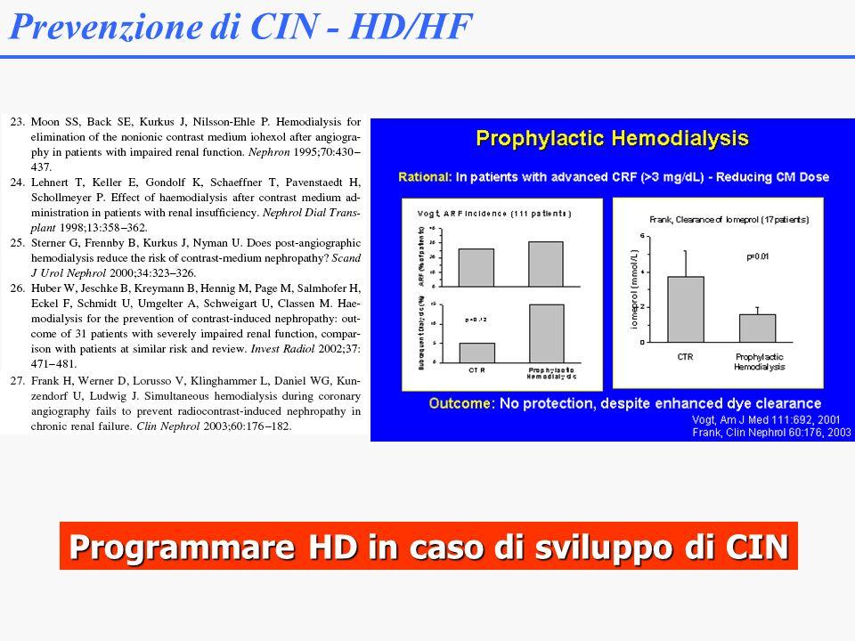 Prevenzione di CIN - HD/HF