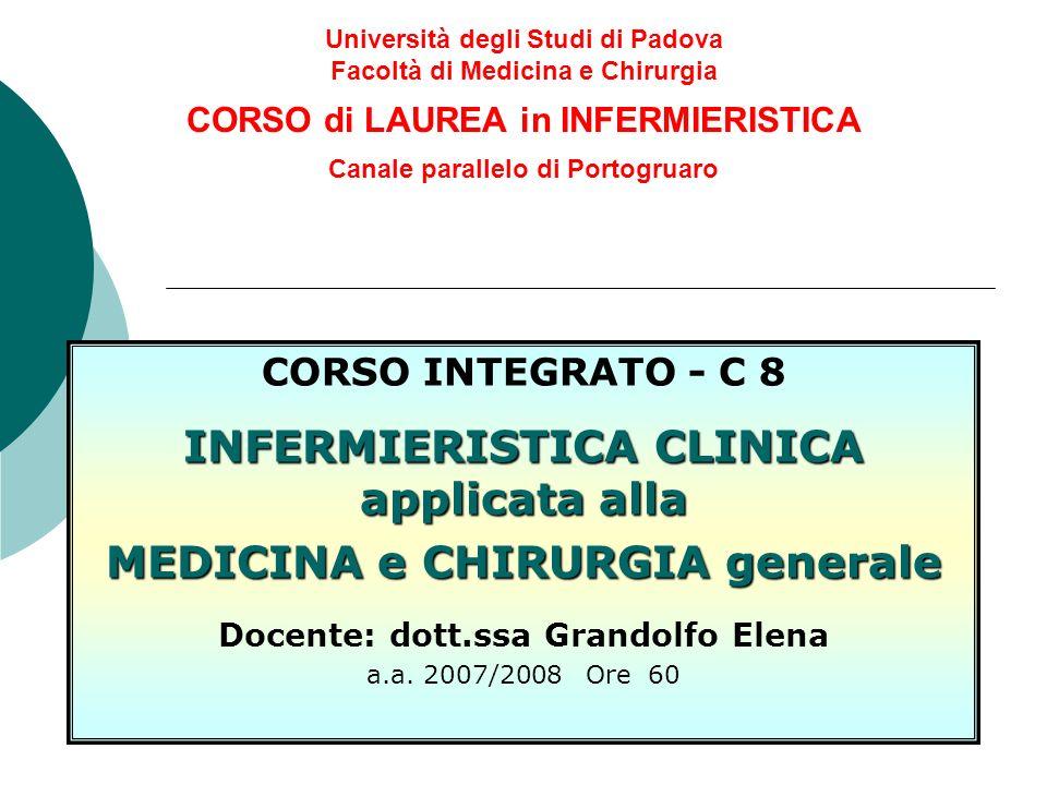INFERMIERISTICA CLINICA applicata alla MEDICINA e CHIRURGIA generale