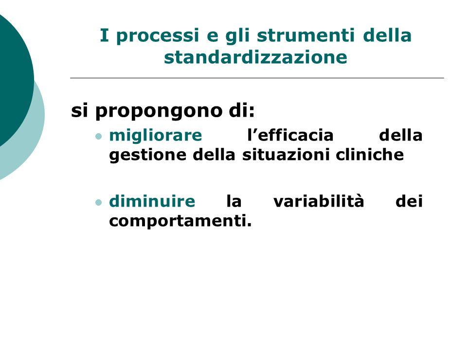 I processi e gli strumenti della standardizzazione
