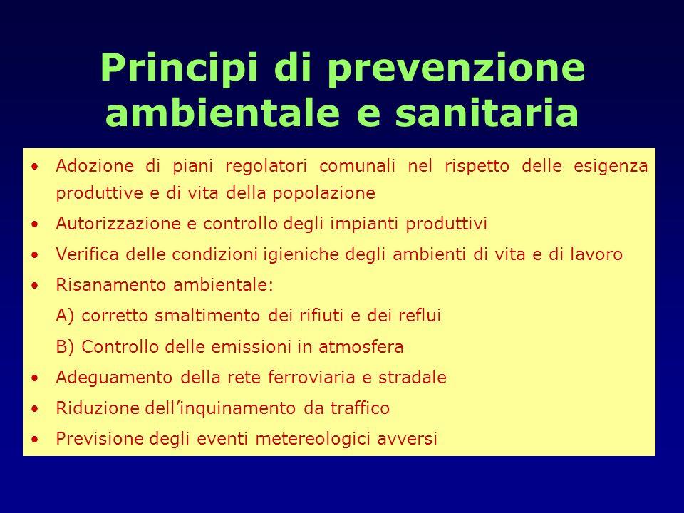 Principi di prevenzione ambientale e sanitaria