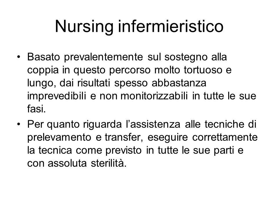 Nursing infermieristico