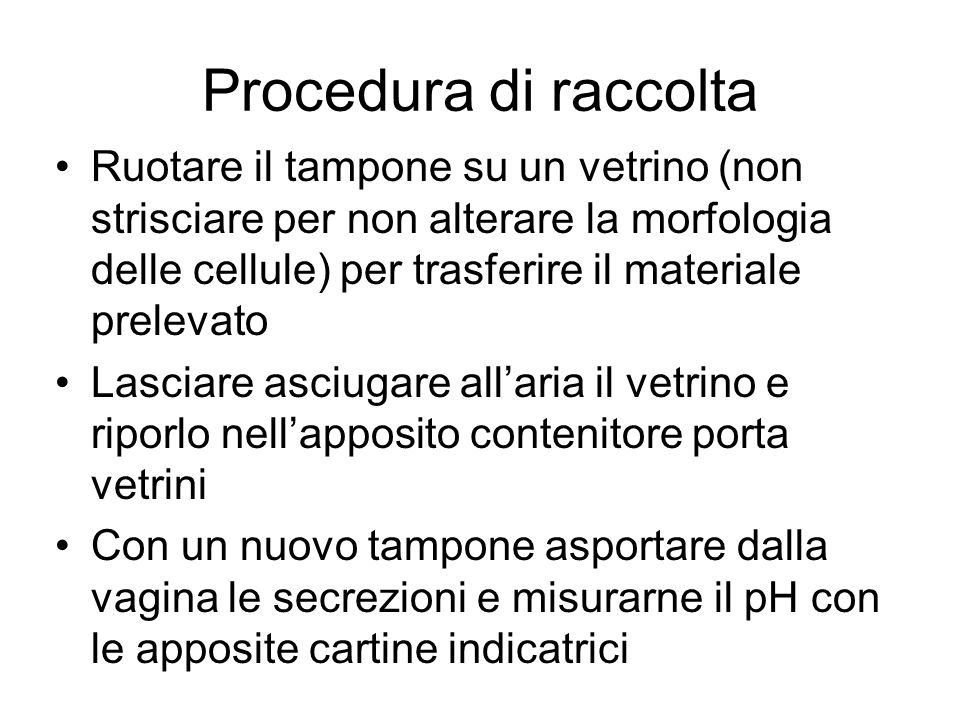 Procedura di raccolta