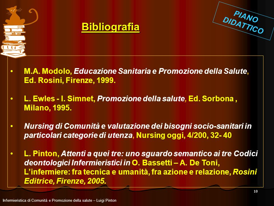 Bibliografia PIANO DIDATTICO