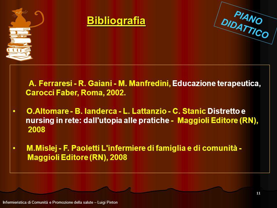 A. Ferraresi - R. Gaiani - M. Manfredini, Educazione terapeutica,