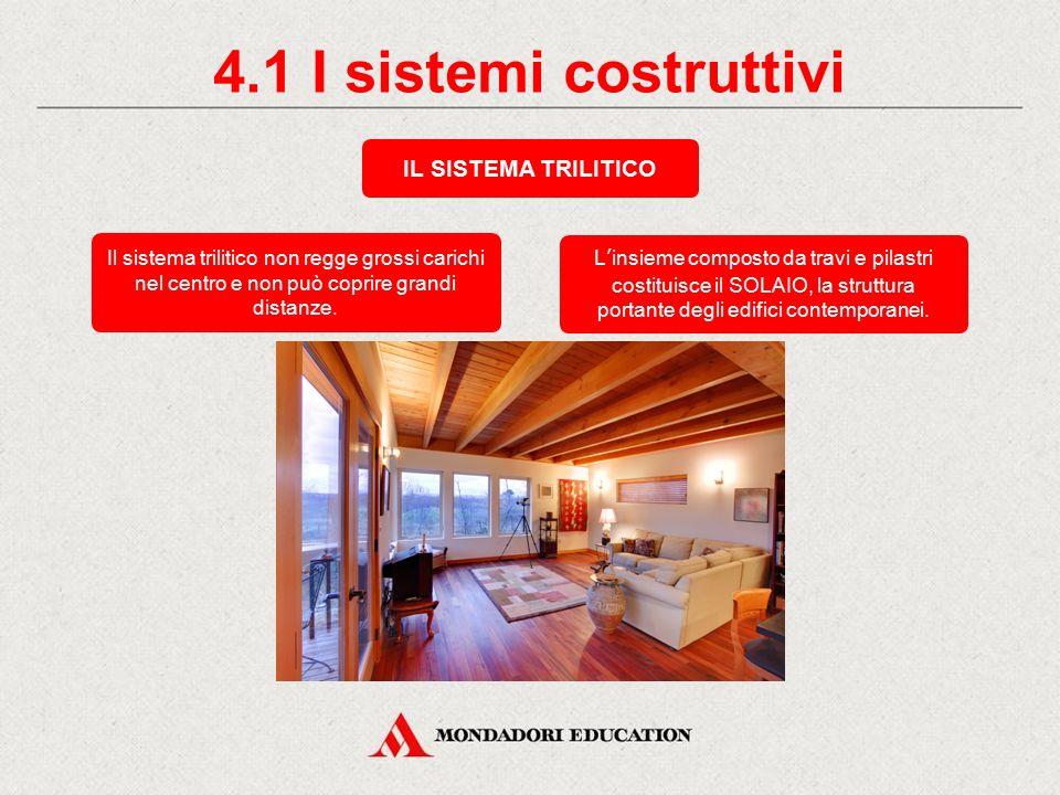 4.1 I sistemi costruttivi IL SISTEMA TRILITICO