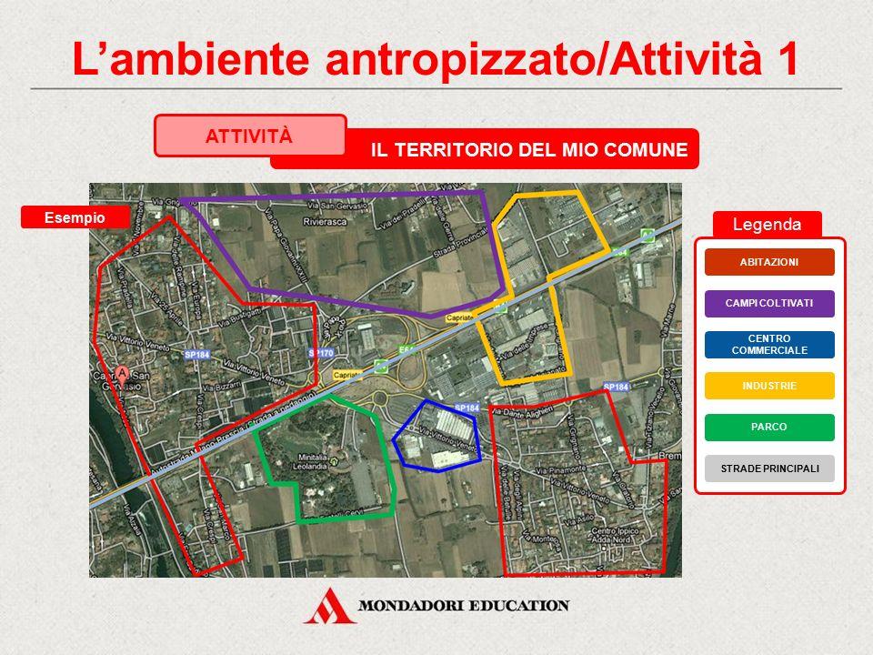 L'ambiente antropizzato/Attività 1