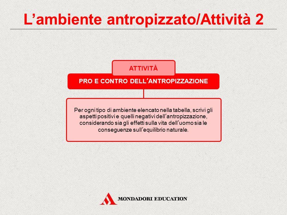 L'ambiente antropizzato/Attività 2