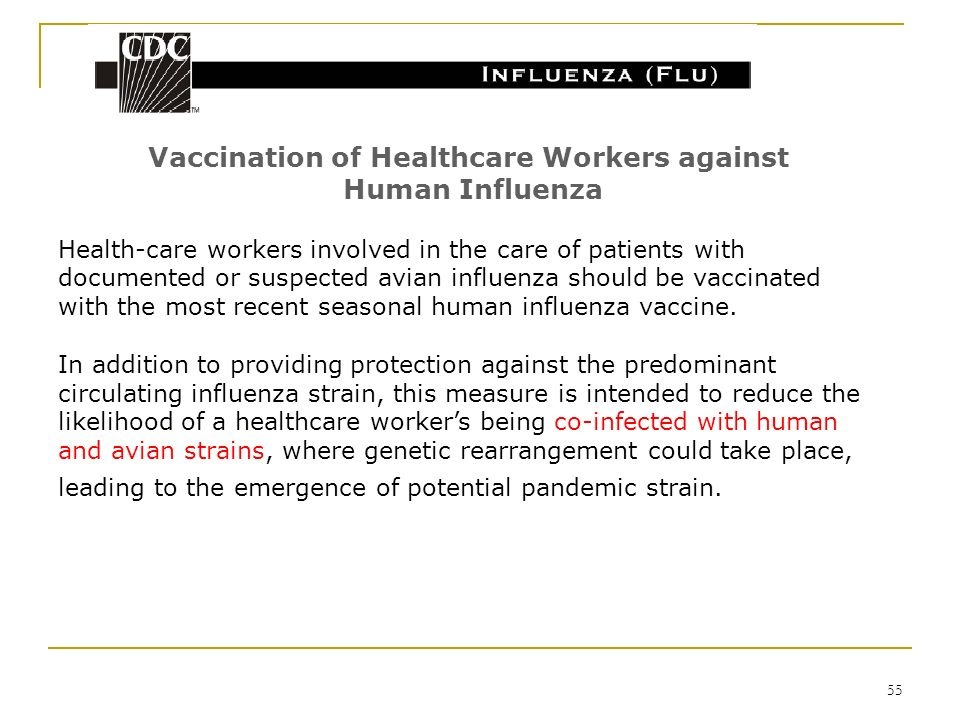 Vaccination of Healthcare Workers against