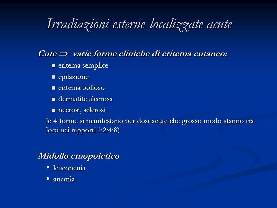 Irradiazioni esterne localizzate acute