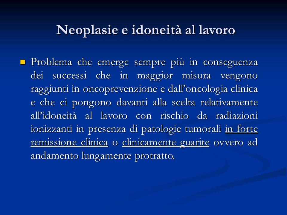 Neoplasie e idoneità al lavoro