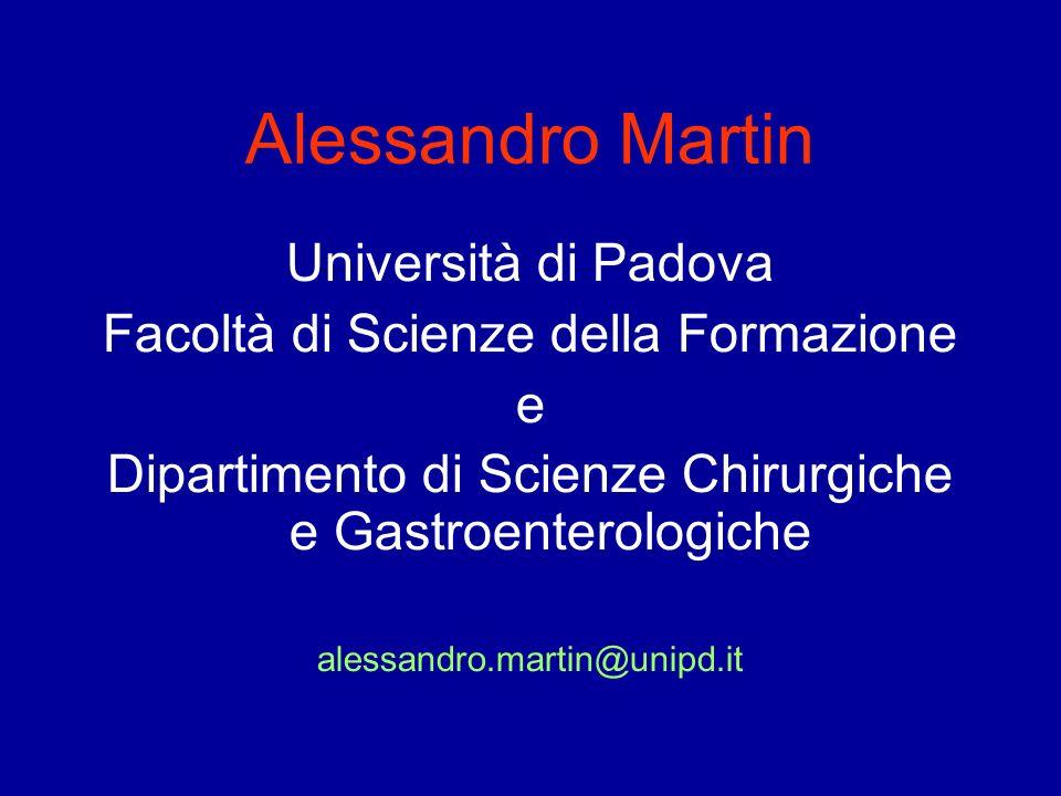 Alessandro Martin Università di Padova
