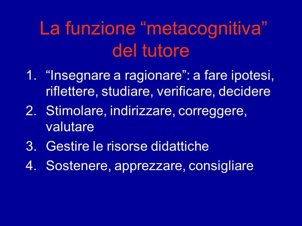 La funzione metacognitiva del tutore