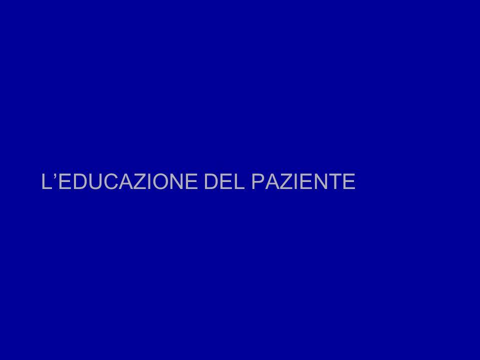 L'EDUCAZIONE DEL PAZIENTE