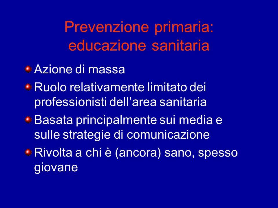Prevenzione primaria: educazione sanitaria