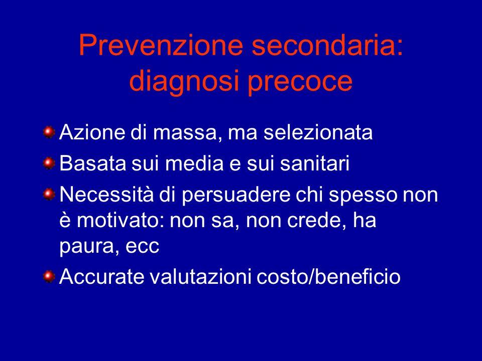Prevenzione secondaria: diagnosi precoce