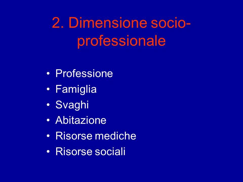 2. Dimensione socio- professionale