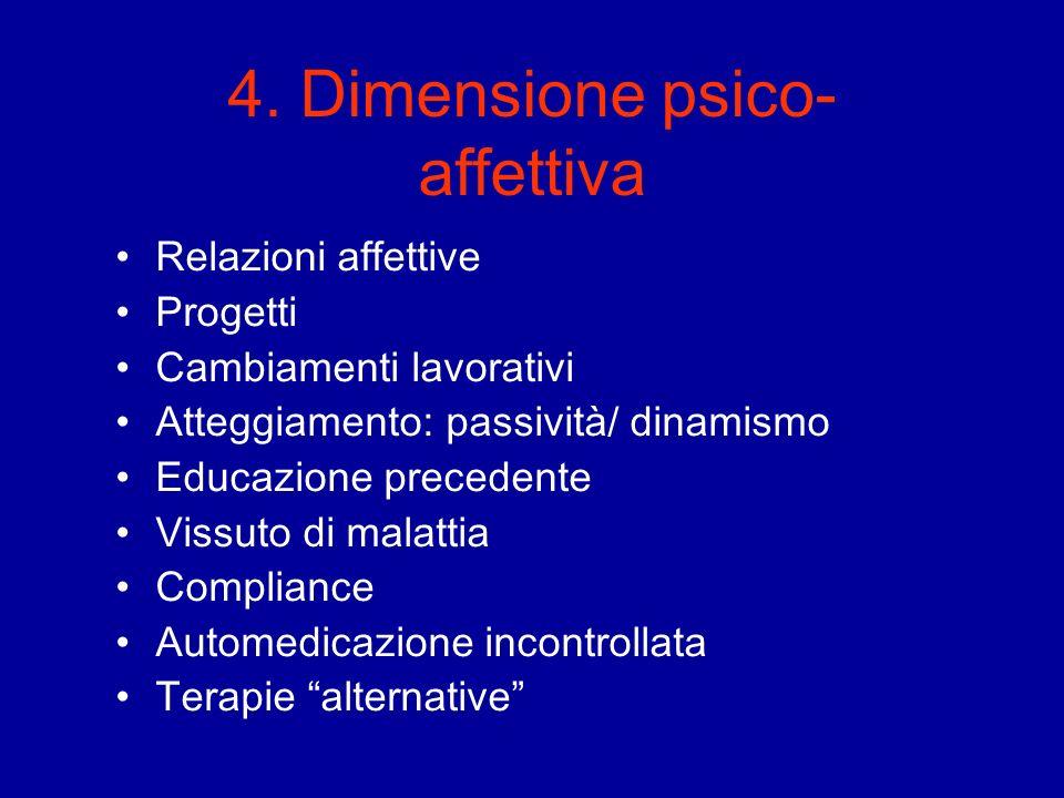 4. Dimensione psico-affettiva