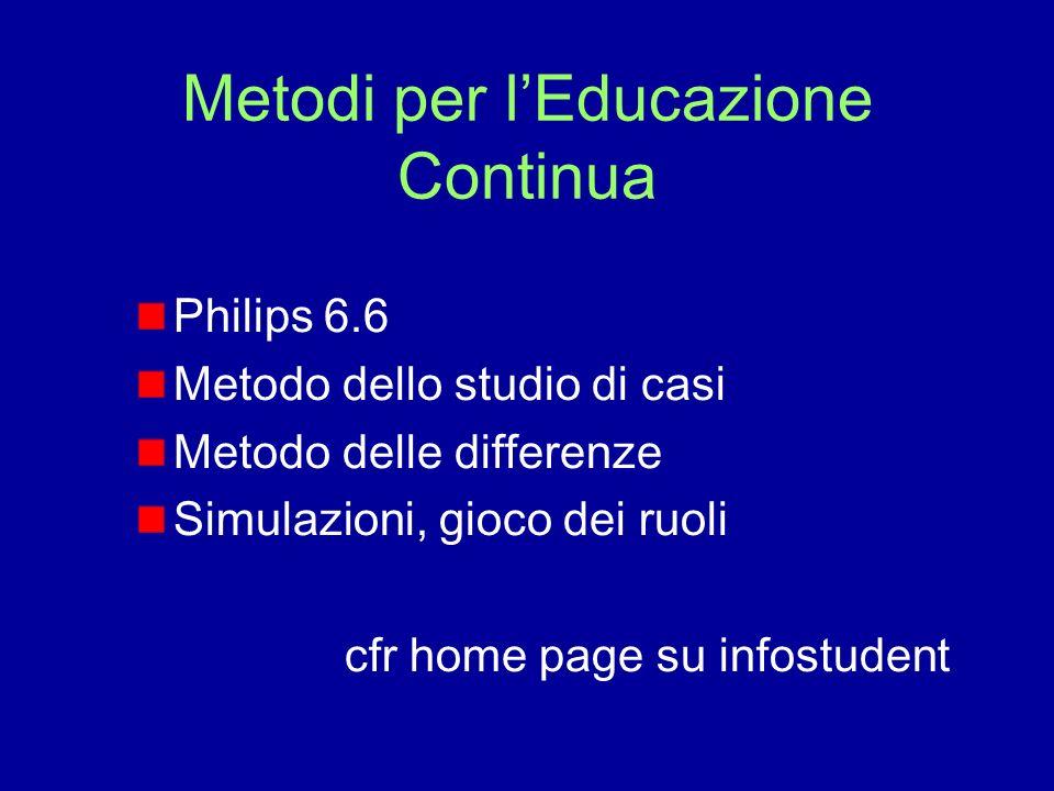 Metodi per l'Educazione Continua