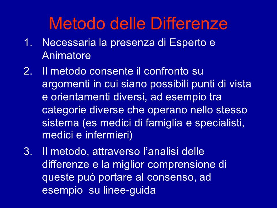 Metodo delle Differenze