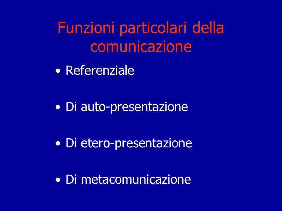 Funzioni particolari della comunicazione