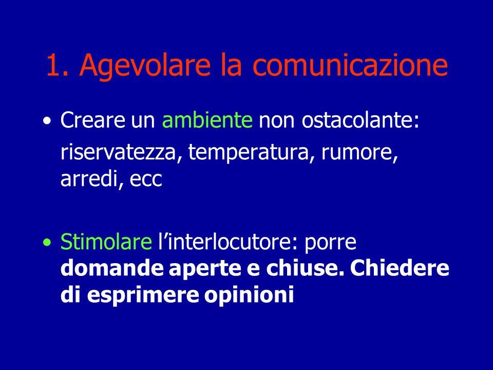 1. Agevolare la comunicazione