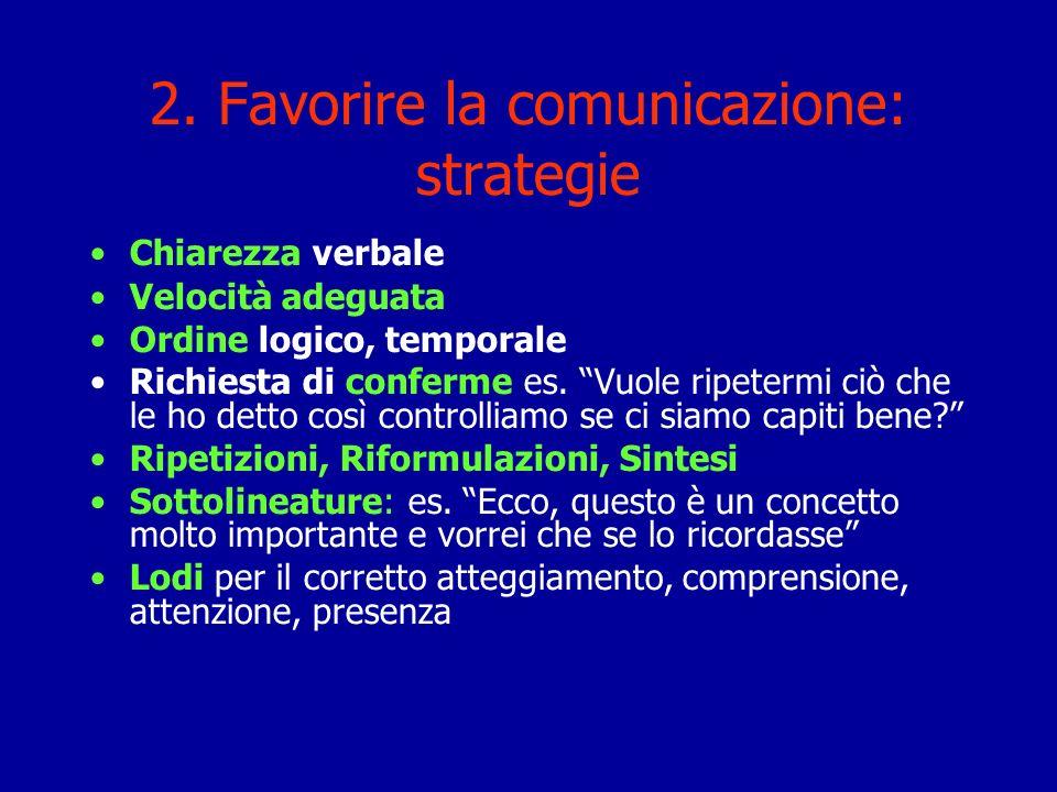 2. Favorire la comunicazione: strategie