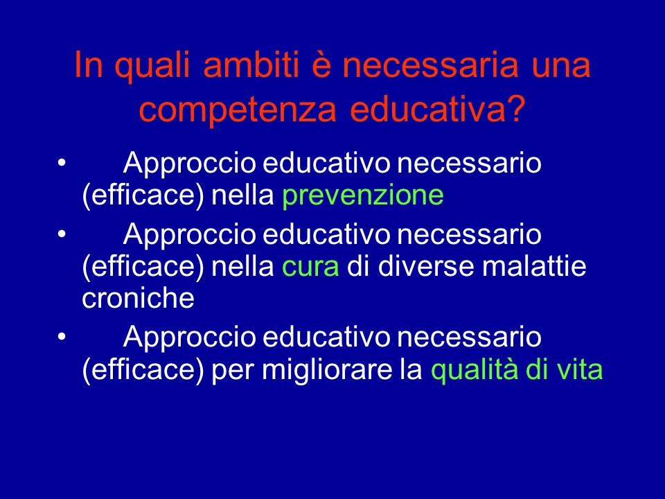 In quali ambiti è necessaria una competenza educativa