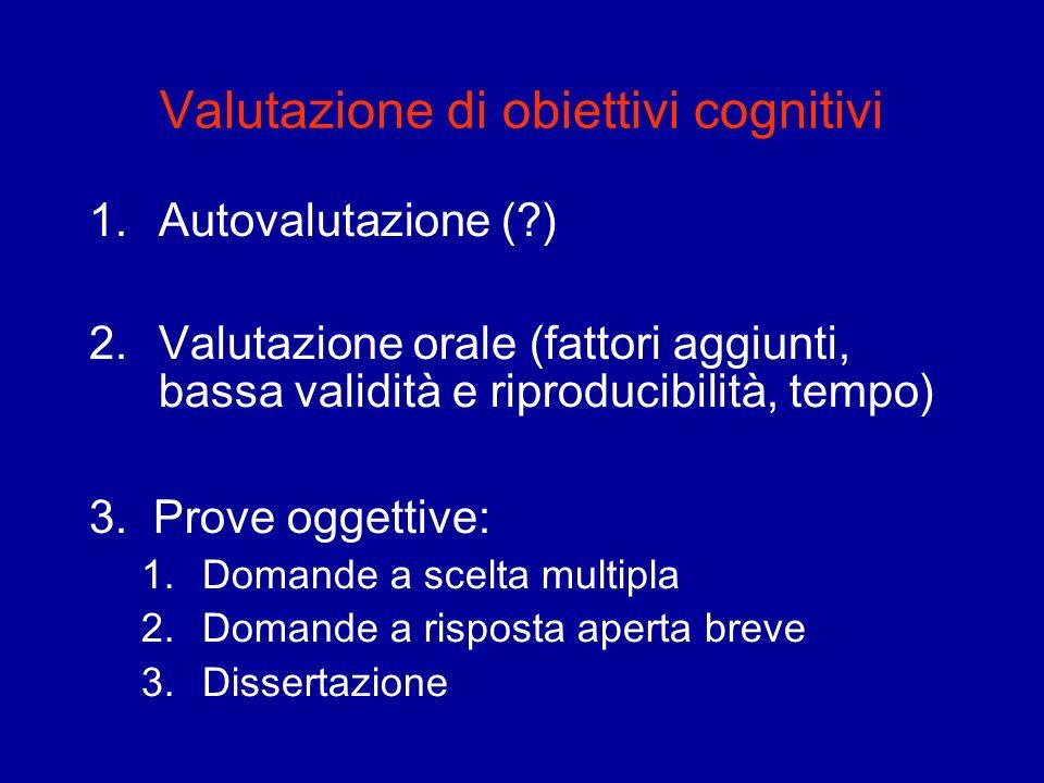 Valutazione di obiettivi cognitivi