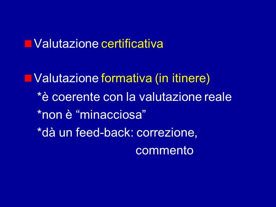 Valutazione certificativa