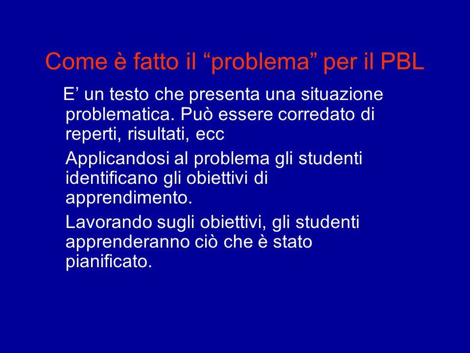 Come è fatto il problema per il PBL