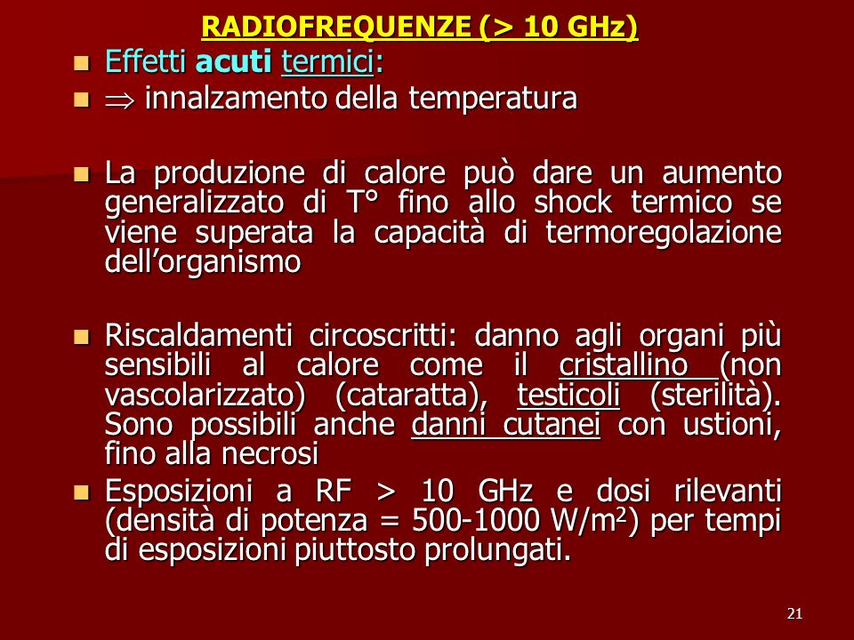 RADIOFREQUENZE (> 10 GHz)