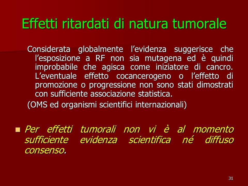 Effetti ritardati di natura tumorale