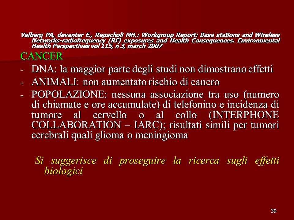 DNA: la maggior parte degli studi non dimostrano effetti