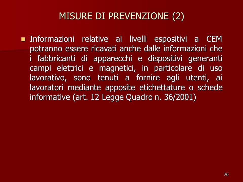 MISURE DI PREVENZIONE (2)