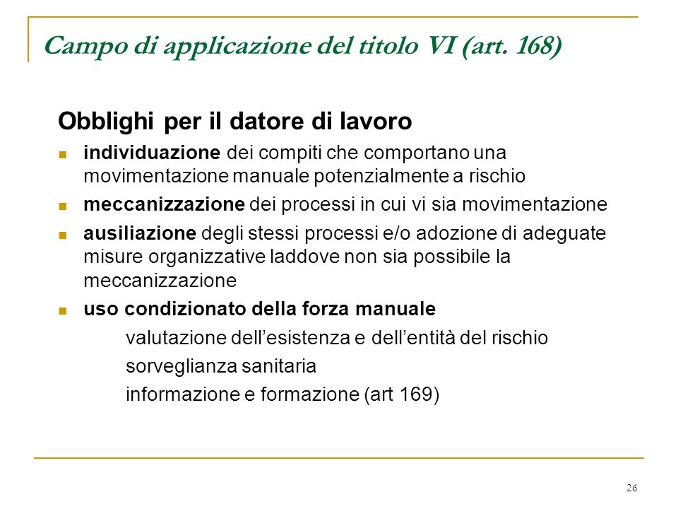 Campo di applicazione del titolo VI (art. 168)