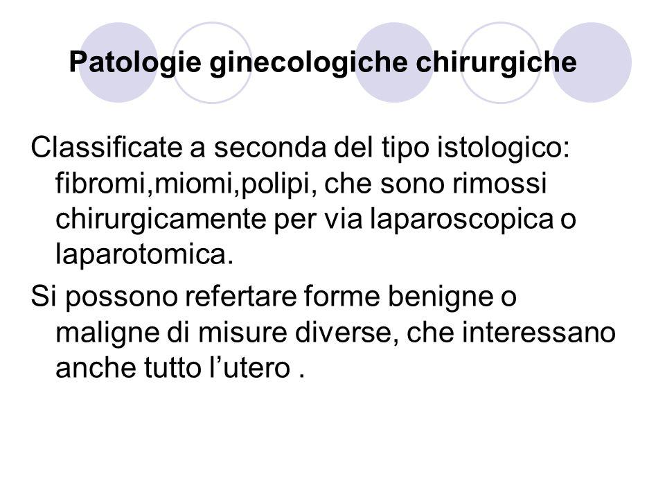Patologie ginecologiche chirurgiche