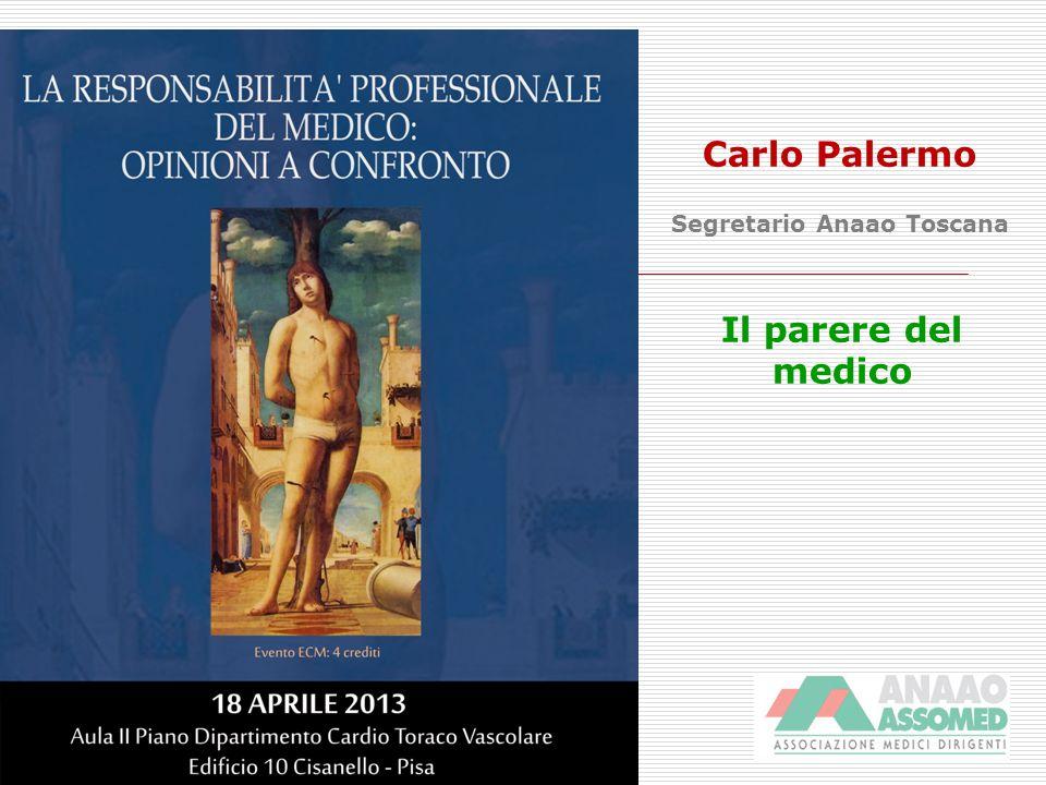 Carlo Palermo Segretario Anaao Toscana