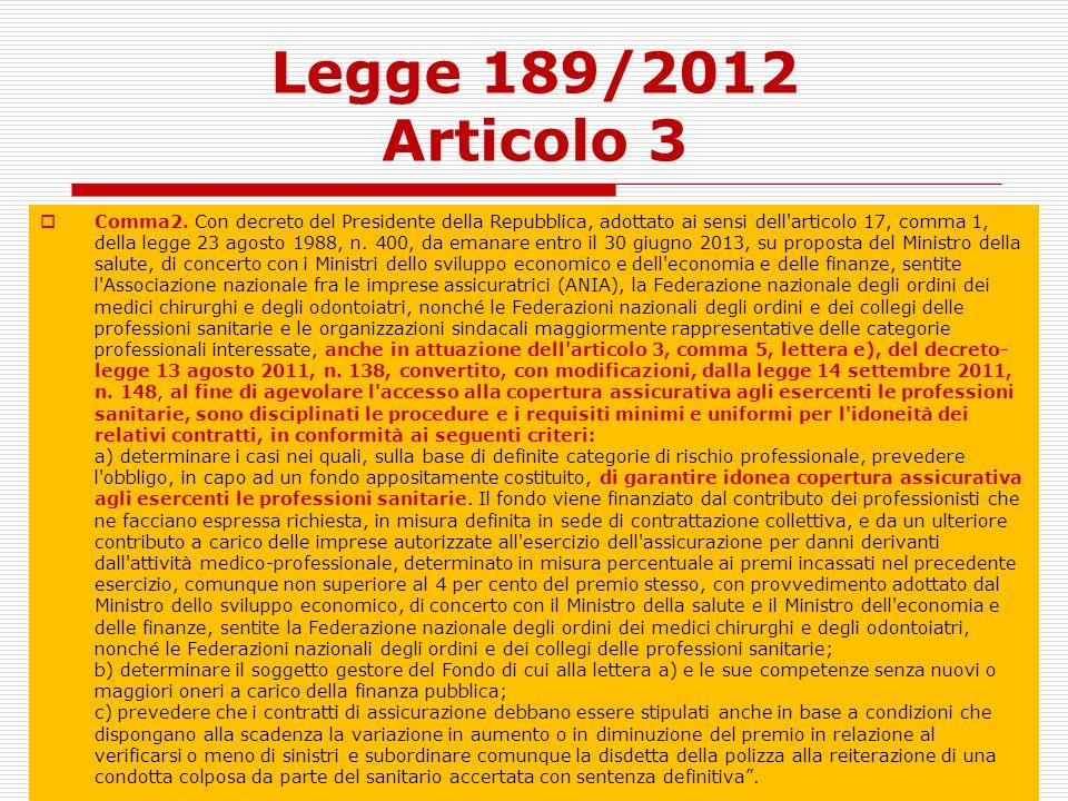 Legge 189/2012 Articolo 3