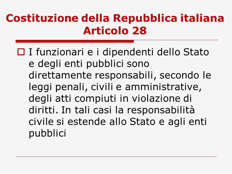 Costituzione della Repubblica italiana Articolo 28