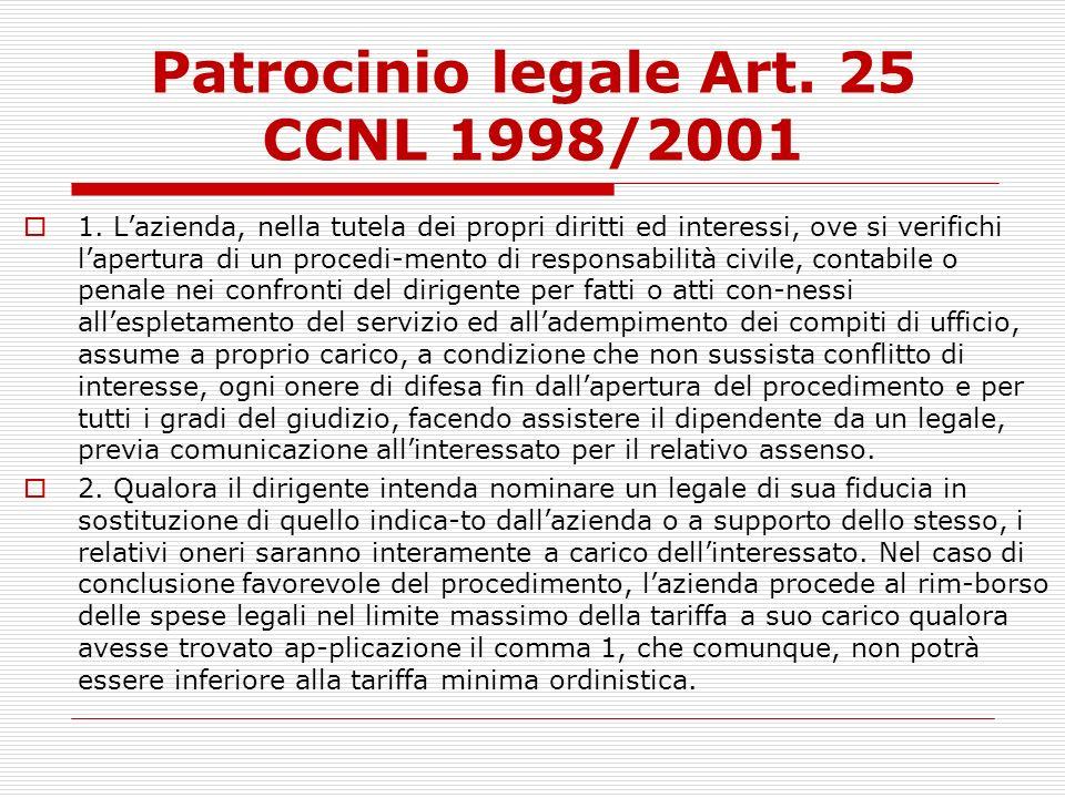 Patrocinio legale Art. 25 CCNL 1998/2001