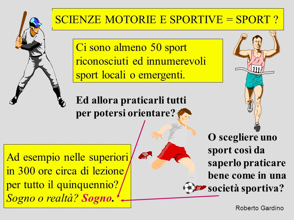 SCIENZE MOTORIE E SPORTIVE = SPORT