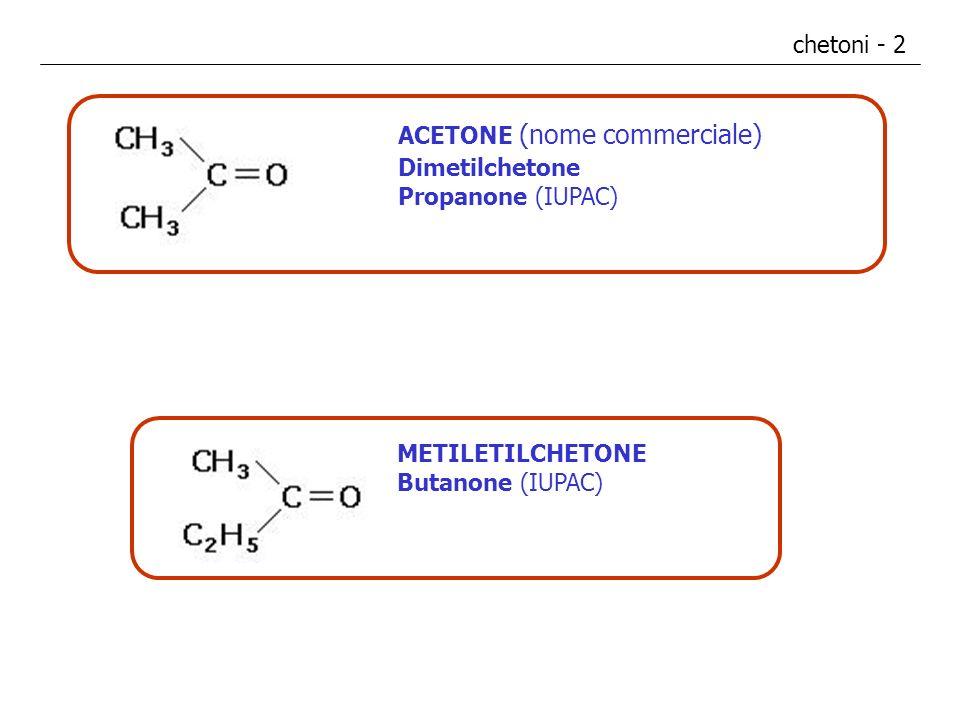 chetoni - 2 ACETONE (nome commerciale) Dimetilchetone.