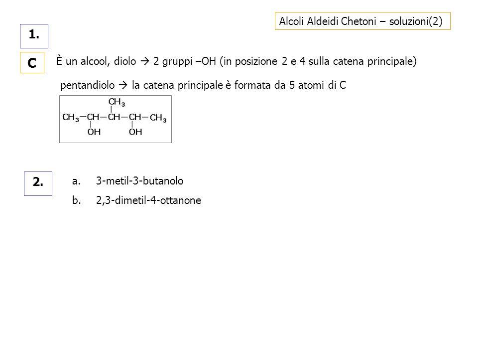 C 1. 2. Alcoli Aldeidi Chetoni – soluzioni(2)