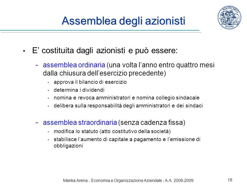 Assemblea degli azionisti
