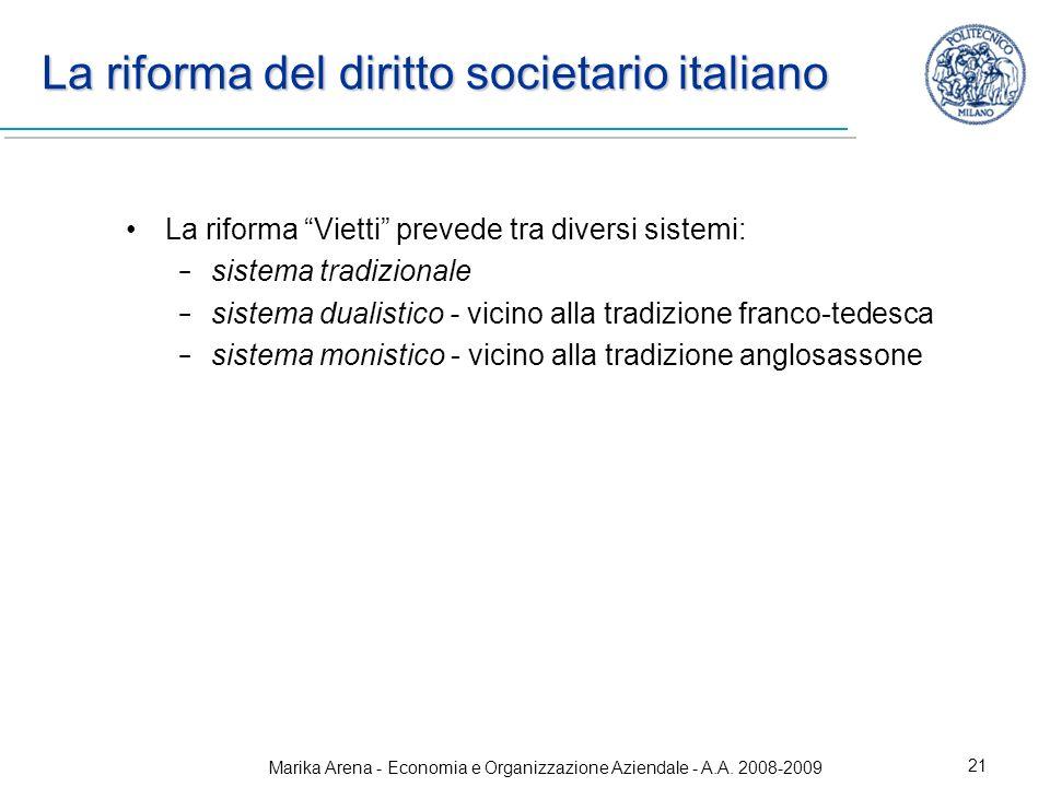 La riforma del diritto societario italiano