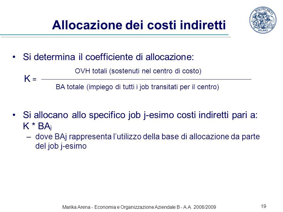 Allocazione dei costi indiretti