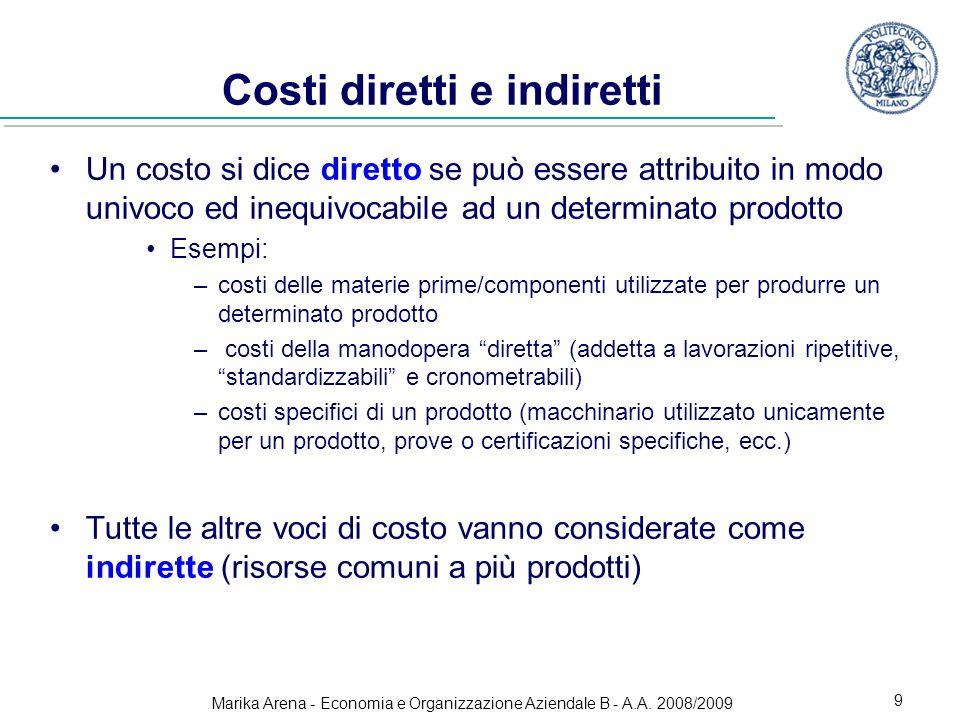 Costi diretti e indiretti