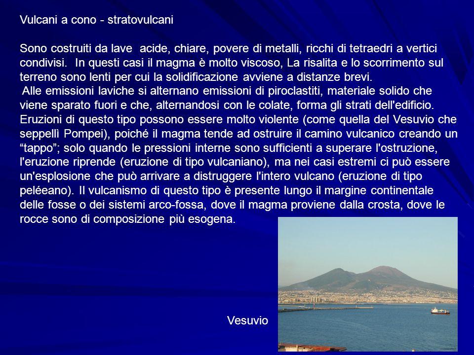 Vulcani a cono - stratovulcani