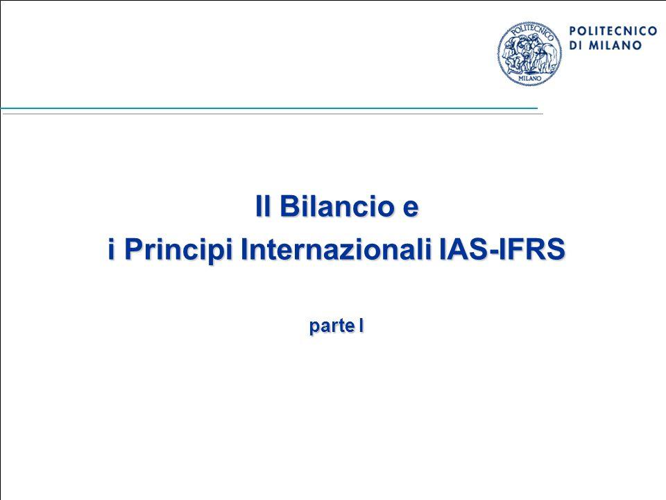 Il Bilancio e i Principi Internazionali IAS-IFRS parte I
