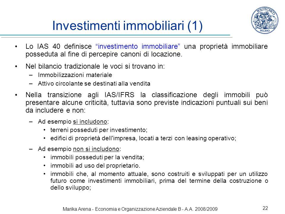 Investimenti immobiliari (1)